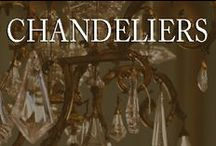 """Chandeliers / Of all the objects that are put in the room, the chandeliers offers the most possibilities for surprise - for """"throwing the room"""". Chandeliers are a room's jewelry"""