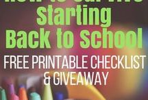 Back to School Tips / As a parent I'm equally excited and nervous for my kids to go back to school. Here are some great tips to make this transition super easy!  Haleysvintage.com