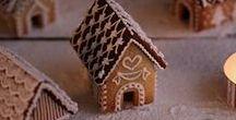 Mini Gingerbread Houses / Miniature gingerbread house inspiration