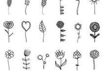 Decoratie & Doodles, / Printable, deco, doodles, labels, projects