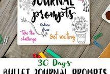 Handlettering & Bullet Journal / Handlettering, Bullet Journal, mooie teksten, illustratie en leuke ideetjes voor je bullet journal