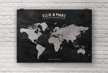 Personalised Travel Maps, World Travel Maps, Photo Maps, Custom Maps by No Ordinary Emporium / Our #personalised #travel #maps are #custom made to show the #places you have #been around the #world, or in specific countries or continents. Ideal as 1st anniversary or 30th and 40th birthday gifts they are made with the places and custom wording of your choice. The following are just some examples of the maps styles that we offer, and more can be found on our Etsy shop: http://noordinaryemporium.etsy.com. All products copyright of No Ordinary Emporium 2015 - 2017