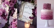 Stunning Wedding Colour Schemes / A selection of stunning wedding colour schemes. Navy blue and blush pink, gold and baby blue, dusty grey and gold, grey and green, and elegant green and plum.