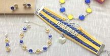 Roscommon GAA Colours Inspired Jewellery / Complete collection of SHUUL's Co. Roscommon GAA inspired jewelley. All our Roscommon range is inspired by the vibrant yellow & blue colours of Roscommon GAA.   Whether its for showing your support on the big match day itself, general day wear, a gift for a loved one or even that more formal evening out, your sure to find the perfect piece.