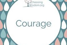 """""""Courage"""" / Courage, bravery, facing challenges, Fearless, Strong, Courageous, Grit"""