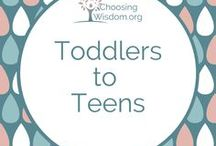 """""""Toddlers to Teens"""" / Favorite #family projects and #parenting resources for #toddlers to #teens. #Traditions #Values"""