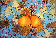 Раскраски для взрослых (мои работы) / Раскрашенные страницы из разных раскрасок для взрослых