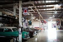 Classic Car Garages / OUTSTANDING CAR GARAGES  / by Rick Adams