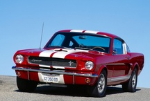 Cars- Mustangs of all eras / I had a 64 Mustang in high school (6 cyl, automatic with rusted floorboard that allowed an unobstructed view of the highway while driving!!) and love them still.