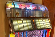 Juke Boxes / My dad bought & sold a lot of these juke boxes when I was a kid. I thought everyone had them in their homes......