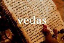 "VEDA, VEDANTA, GITA / The Vedas (""knowledge"") are a large body of texts originating in ancient India. Composed in Vedic Sanskrit, the texts constitute the oldest layer of Sanskrit literature and the oldest scriptures of Sanatana Dharma ""the eternal law"" - what is now popularly called Hinduism. Vedic texts are classified into Śruti (""revealed"") and Smriti (""remembered""). These texts discuss theology, philosophy, mythology, Vedic yajna and agamic rituals and temple building, among other topics."
