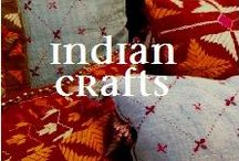 INDIA CRAFTS & ARTISANS / India's rich heritage is preserved in its folk arts and crafts. The crafts are diverse, rich in history and religion. Varied art forms from each state in India reflect the influence of different empires. From fabrics to henna patterns, paintings to sculptures, quilts and table linen to floor and wall patterns, they are a constant source of inspiration for designers. Here are some of our selections from the wide world of Indian traditional, folk and cultural crafts and art.