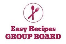 ☺ Easy Recipes ☺ / Easy recipes including crock pot recipes, simple ingredient recipes, fast recipes and more. If you would like to join this group board please follow me http://pinterest.com/unicornbeauty and email me unicornbeauty (@) gmail.com