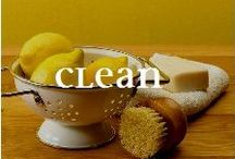 CLEAN NATURALLY - DIY / You CAN keep your home CLEAN without loading your shopping cart with a different cleaner for each surface, floor and sink in the house. Tackle countless chores with common household items from your pantry(like toothpaste and salt) - without toxins and harmful chemicals...cheaper on the pocket too!