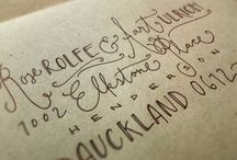 Hand lettering, typography and fonts