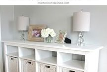 Consoles / Consoles, buffets, entry tables, sofa tables, tv consoles. Inspiration for furniture to build. DIY cheap and thrifty style.