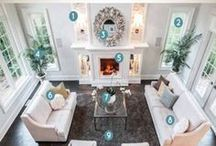 Design Rules & Measurements / Measurements for design and furniture layout ideas. What size rug to use, how high to hang a picture, furniture spacing, etc.