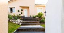 ESCALIER / Entrée de maison ou continuité du jardin pour passer d'un espace à un autre l'escalier est une pièce maîtresse dans vos aménagements de jardin