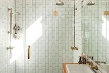 bathe / A beautiful bathrooms is a slice of heaven.   / by Kate Mc Rugg