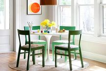 delectable dining / A dining room is not just a place with a big table outfitted to eat a meal.  It should be comfortable and warm and you should want to spend hours AFTER your meal is done sitting and talking and laughing.  THAT to me is a dining room.