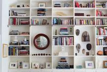 shelves, bookcases & cabinets / looks, design and styling / by Kate Mc Rugg