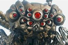 biomechanical monster / biomechanical giger aliens monsters mechanism