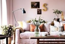 powdery PASTEL interiors / pastel home inspiratons - wohnen in pastelfarben