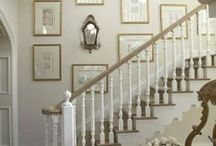 Hall, Stairs and Office / Beautiful ideas for hallways and offices / studies and my hunt for the perfect desk...