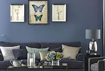 Decor - Moody Blues and Coastal / Classic and modern schemes in shades of blue and coastal themes.