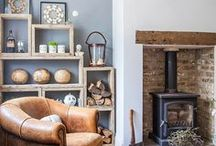 Decor - Green, Country, Natural, Woodland / Home ideas for green rooms and/or rustic and woodland feel. (think country house hunting lodge!)