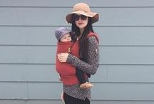 Moab Boba Baby Carrier Mom Style Inspiration Board (Red and Coral) / The Moab is our latest addition to the Boba Baby Carrier print family. It's a gorgeous muted red coral and we are swooning at how pretty it is! Does Moab fit your mom style? If a pop of stylish color is part of your babywearing fashion persona, check out our Moab style inspiration board for ideas for you and your baby! / by Boba - Baby Carriers & Wraps