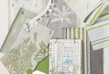 Room Ideas - Green&Grey / Mood Board for a homely Green and Grey room colour scheme.