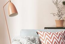 Room Ideas - Coral, Gold & Copper / The hottest colours of the year.. Coral & Gold