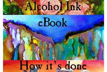 alcohol ink painting and mixed media