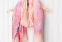 Tickled Pink  Lightweight Scarves