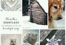 Mood board winter wonderland
