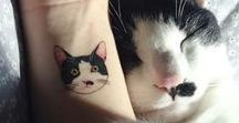 Cat Tattoos / All the Cat-toos! Small cat tattoos, big cat tattoos, black cat tattoos, cute cat tattoos, cat portrait tattoos, realistic cat tattoos, cat whiskers tattoos, cat paw tattoos, abstract cat tattoos, and more.