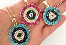 Evil eye necklaces