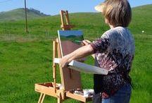 PleinAir Painting / A look at plein air painters in action.
