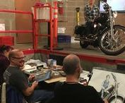 The Biker - Art Workshop / Drawing and painting costumed figures in Great Falls, Montana.
