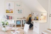 ☆ Craft room ☆ / Examples of beautiful crafts rooms and ideas to get all your scrapbooking supplied organised in one place!