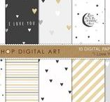 ☆ Digital papers ☆ / Curated digital papers for modern scrapbooking
