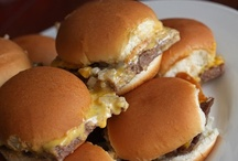 Football Food / A collection of foods that would be perfect for the big game or just kicking back and enjoying a college game with your favorite football friends.