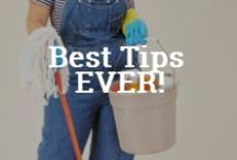 Cleaning Tips and Tricks / A collection of tips that make cleaning easier!