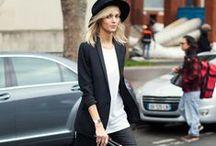 Model's street style ...