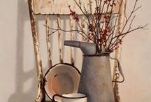 Shabby Chic / Shabby Chic is one of my favorite styles.  I love the look of peeling paint and wear.  The time worn look has character and comfort.