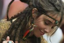 """Dreadlock & BoHo Chicks /  I just really like this style, but what I find most attractive is the inner confidence to just """" be you""""."""