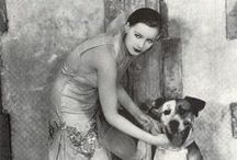 Vintage Celebrities Dogs / Vintage Icons with dogs..