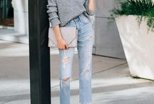 Casual Looks / A collection of casual effortless looks. T-shirt & jeans, graphic tees, cool sneakers, denim skirts, crisp button ups and lots of denim.