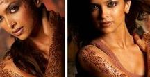 Celebrity Henna / Bollywood, Hollywood and Singer Celebrities  with Henna
